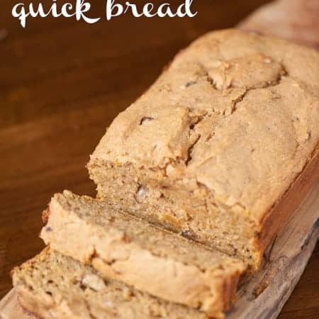 If you're looking for a moist and delicious breakfast treat, this Sweet Potato Quick Bread is the perfect start to any Fall morning.