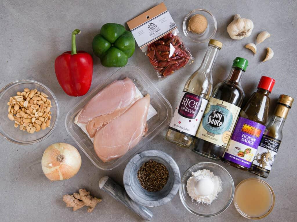 ingredients to make Szechuan Chicken