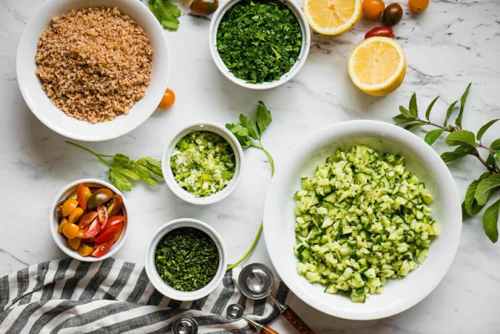 ingredients needed to make Tabouli Salad