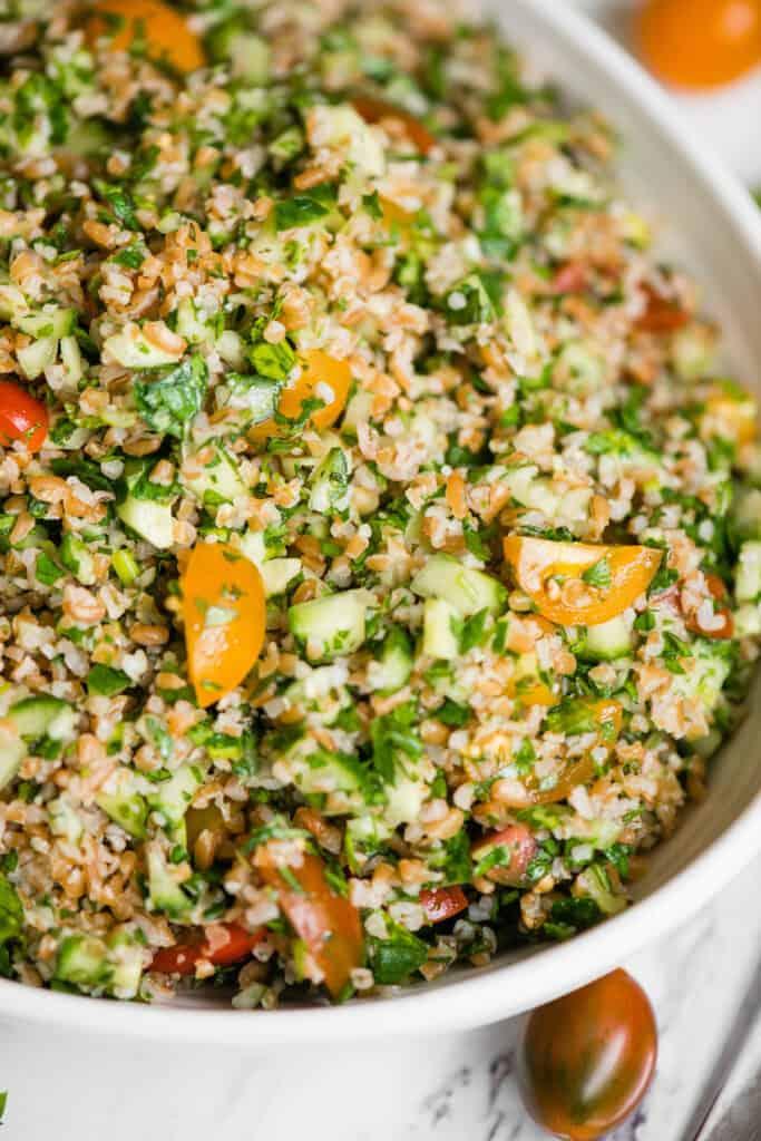 close up of Tabbouleh salad recipe