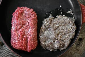 ground beef and ground mushrooms for Taco Meat Recipe