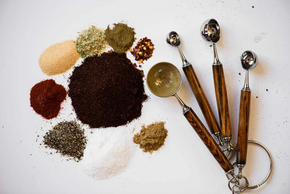 spices used to make your own Taco Seasoning