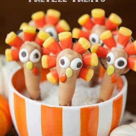 These Thanksgiving Turkey Pretzel Treats are super fun and easy to make. The kids will absolutely love them and they actually taste really good too!