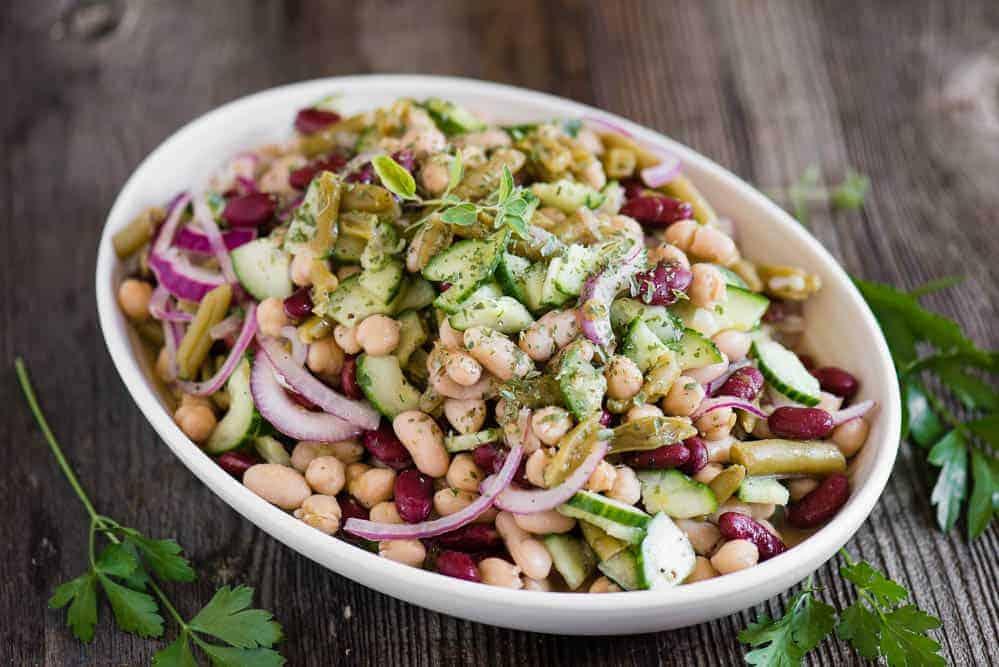 Three Bean Salad Recipe {actually, Four Bean} | Self