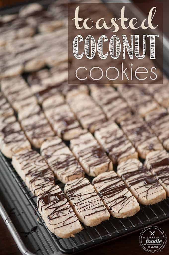 Toasted Coconut Cookies - Self Proclaimed Foodie