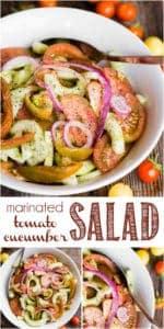 recipe for marinated tomato cucumber salad