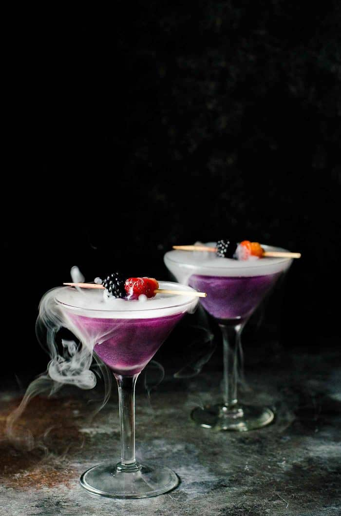 witches heart is a great halloween drink with dry ice - Great Halloween Drinks