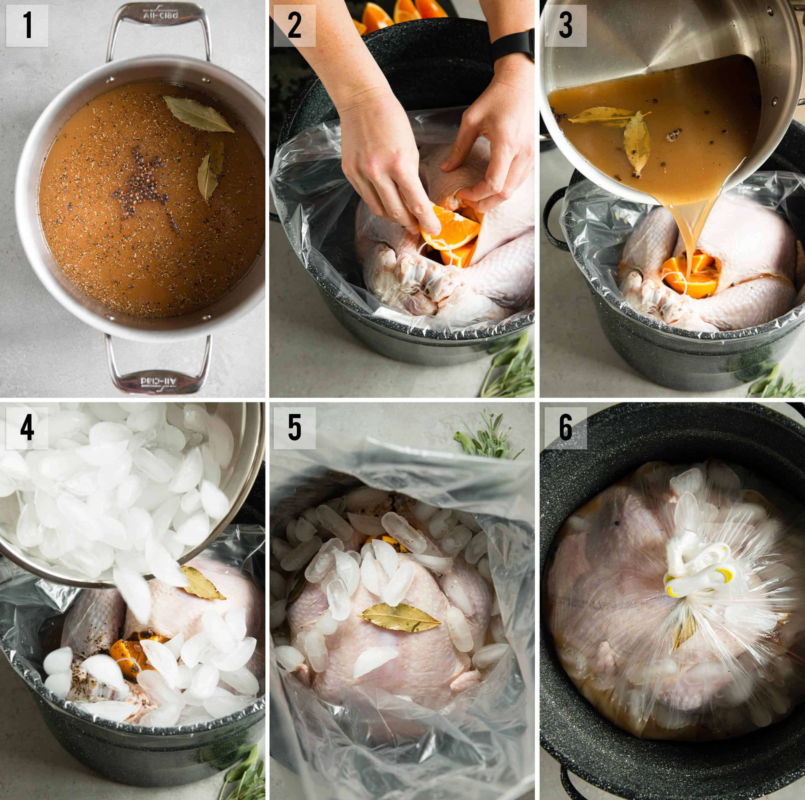 turkey brine process photos