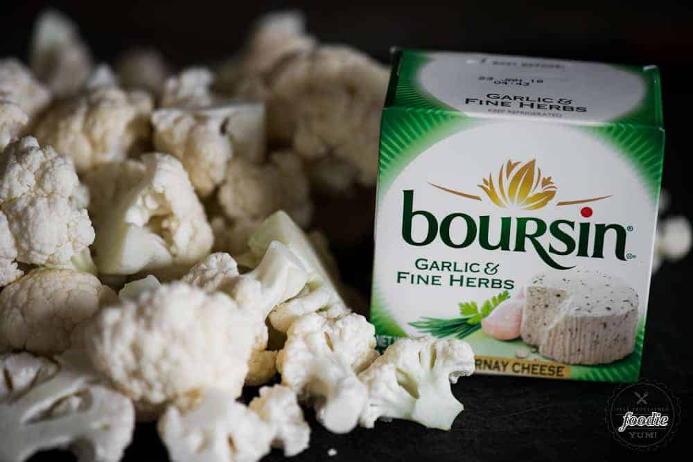 cauliflower florets and boursin cheese