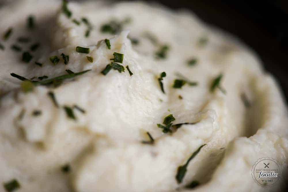pureed cauliflower with boursin cheese