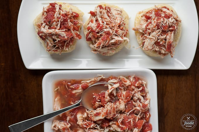 This Two Ingredient Slow Cooker Shredded Chicken takes minutes to prepare and can easily serve a crowd for any game day celebration.