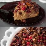 Serve up this sweet homemade Upside Down Cranberry Coffee Cake with a hot cup of freshly brewed coffee for the perfect breakfast this holiday season.