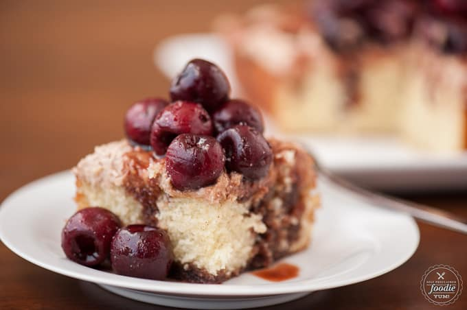If you're looking for an easy yet unique dessert that will really impress, Vanilla Cake with Balsamic Cherry Mascarpone is what you need to make.