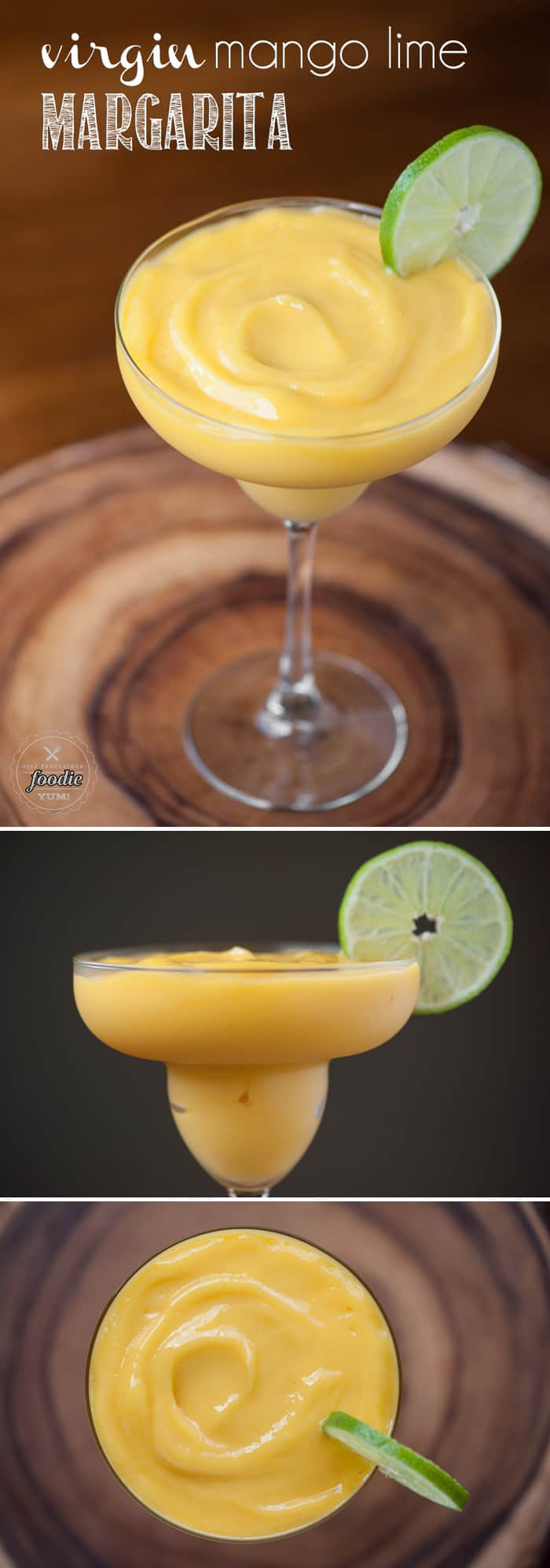 This non-alcoholic kid friendly Virgin Mango Lime Margarita takes only minutes to make and is full of tangy sweet fruit that blends up perfectly smooth.