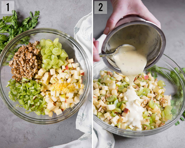 Waldorf Salad process photos
