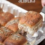 These easy Warm Turkey Sliders made from a frozen turkey breast cooked in the slow cooker or an electric pressure cooker make for some great game day food!