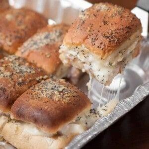 warm turkey sandwiches on rolls