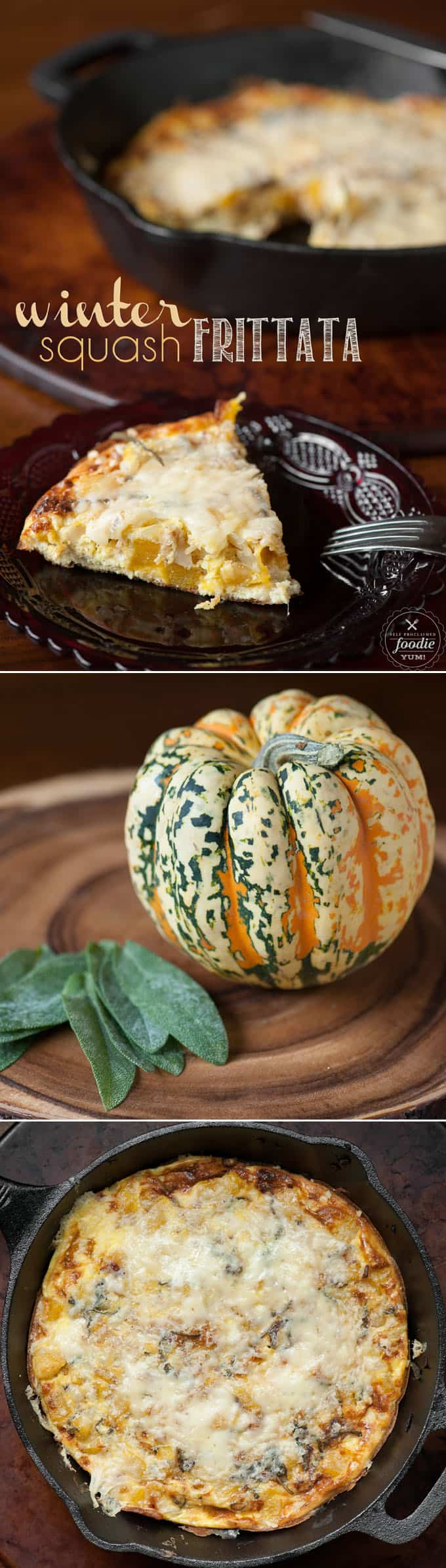 Embrace the changing seasons and make a delicious Winter Squash Frittata with sage and parmesan for a fabulous weekend breakfast.